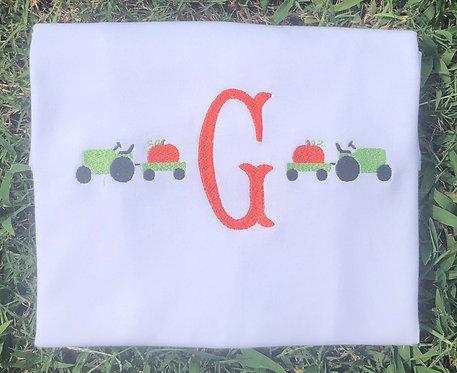 Monogram Pumpkin Tractor