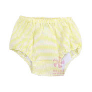 Yellow Seersucker Diaper Covers