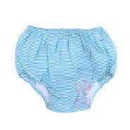 Aqua Seersucker Diaper Covers
