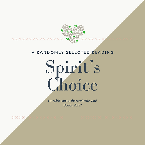 Spirit's Choice
