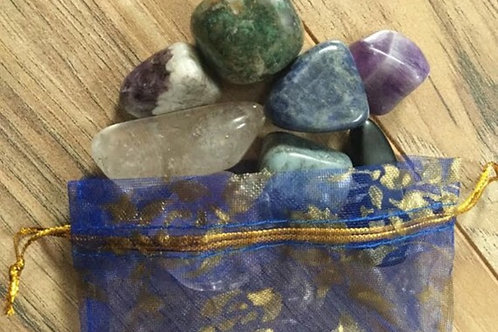Assorted Tumbled Stone & Crystal Points Bag