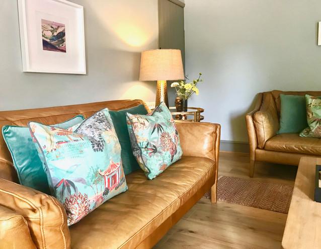 Comfortable leather sofas
