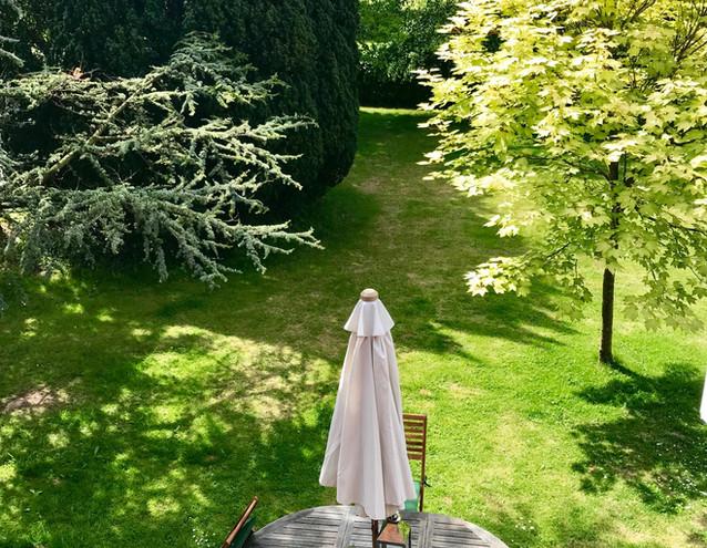 Garden view from bedrooms