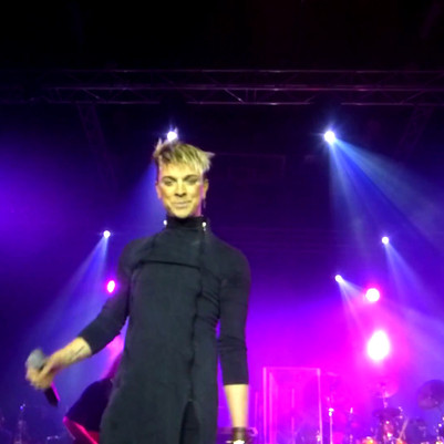 JC onstage with Omega in Debrecen