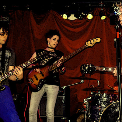 JC Connington onstage at the Kings X Water Rats