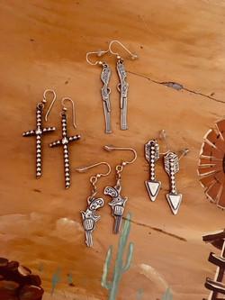 Peace sign earrings,
