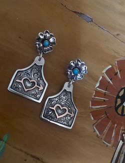 Custom Ear Tag Brand Earrings