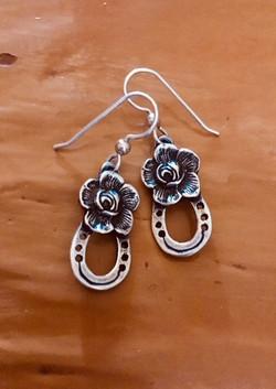 Rose Horseshoe earrings