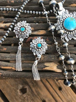 Nickel Size Sunflower with Turquoise