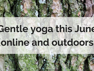 Gentle yoga this June