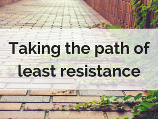 Taking the path of least resistance