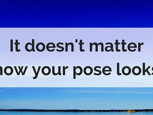 It doesn't matter how your pose looks