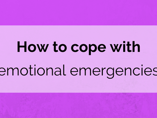 How to cope with emotional emergencies