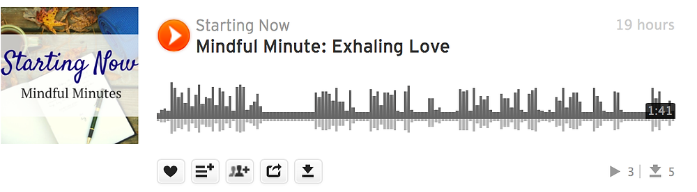 Mindful Minute: Exhaling Love