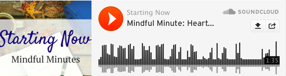 Mindful Minute, breath, mindfulness, self care