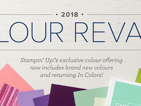 STAMPIN' UP! 2018 COLOUR REVAMP