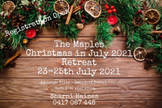. Christmas In July 2021 The Maples Christmas In July Retreat 2021