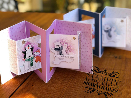 Sale-A-Bration peak with Interlock Double Concertina Card - July 2021