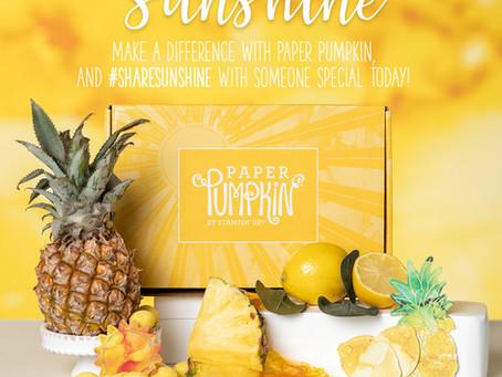 Box of Sunshine - Paper Pumpkin Kit in Australia!