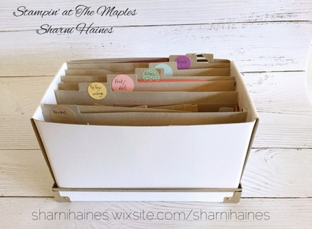 Copy of  Tip No. 3 Store your Cardstock Scraps in a filling box.