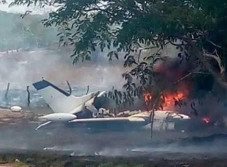 Desplome de avioneta deja 6 personas muertas en Chihuahua
