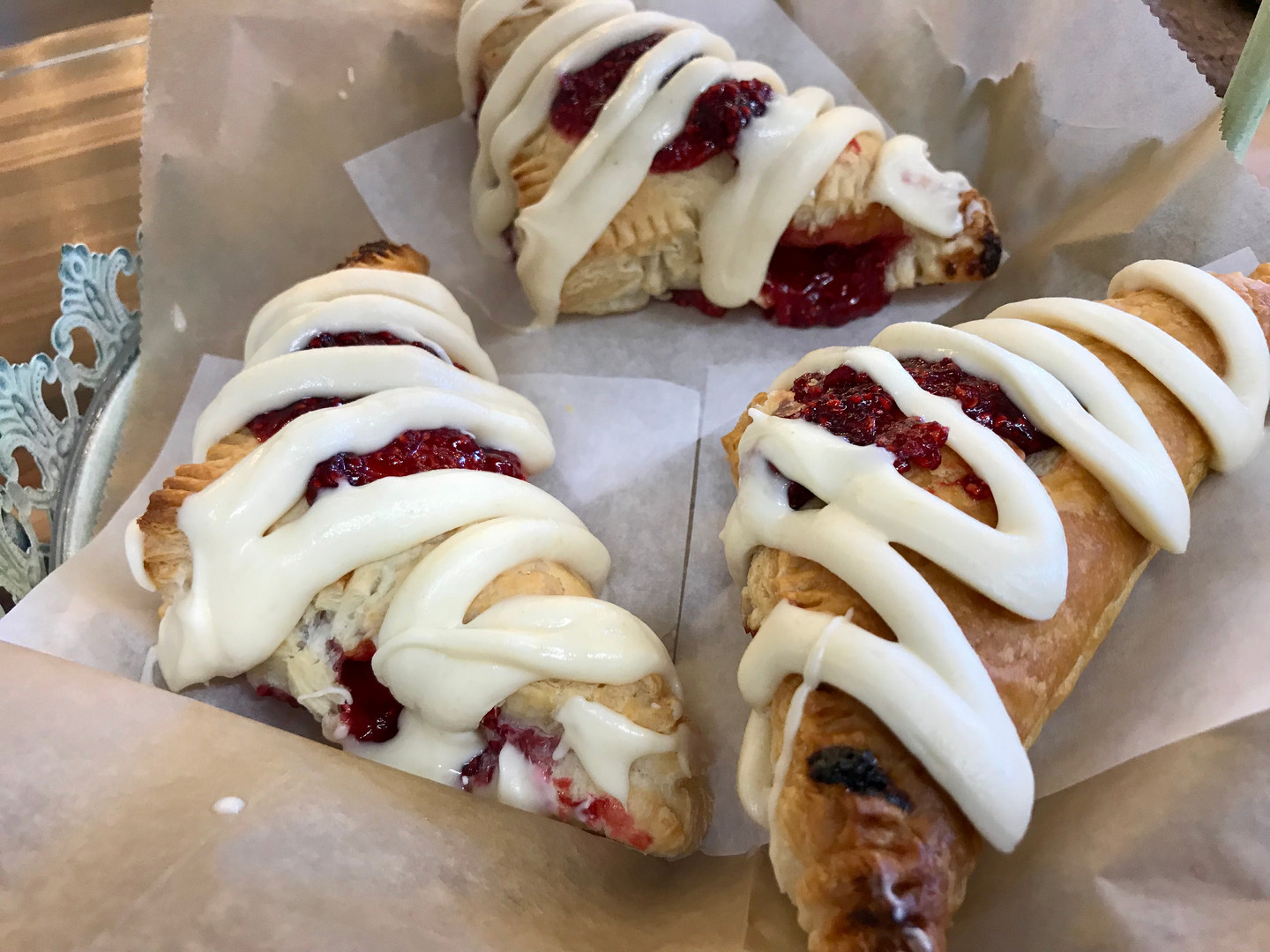 raspberry Turnover with Brown-Butter Fro