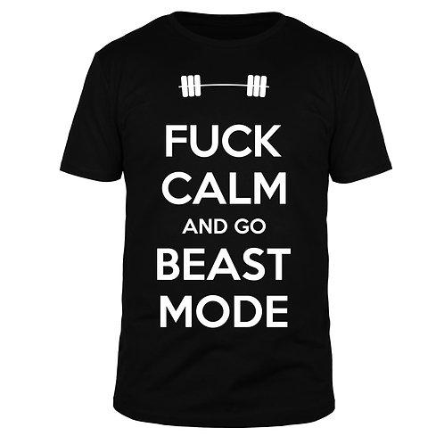 Fuck calm go Beast Mode - Männer T-Shirt