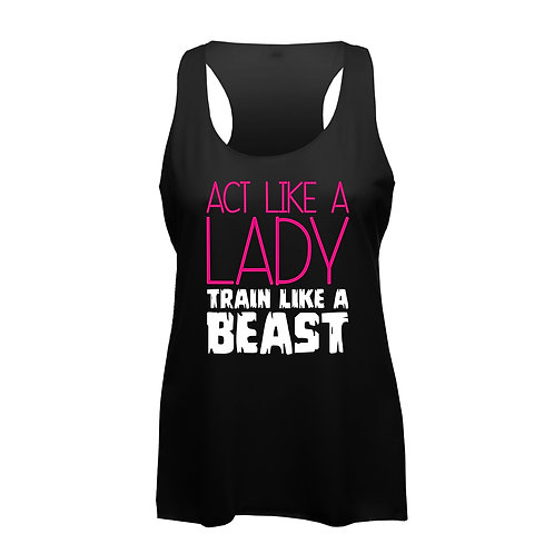 Act Like a Lady - Frauen Fitness Tank Top