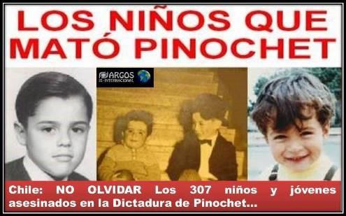 Chile: NO OLVIDAR: Los 307 niños y jóvenes asesinados en la Dictadura de  Pinochet