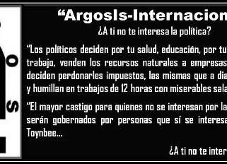 'Nosotros' AGENCIA DE INFORMACIÓN 'ARGOS IS-INTERNACIONAL'* EN LA RED