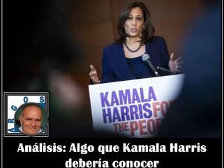 Análisis: Algo que Kamala Harris debería conocer