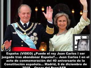 España: (VIDEO) ¿Puede el rey Juan Carlos I ser juzgado tras abandonar España?