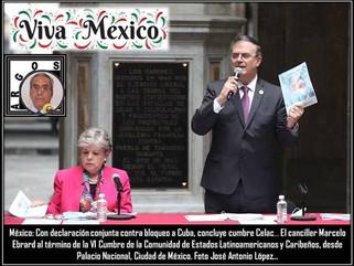 México: Con declaración conjunta contra bloqueo a Cuba, concluye cumbre Celac