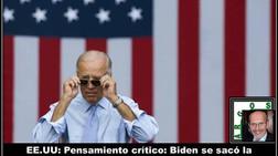 EE.UU: Pensamiento crítico: Biden se sacó la máscara en tiempo record
