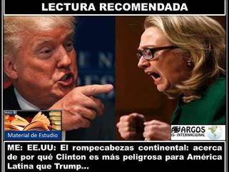 ME: EE.UU: ¿Por qué Clinton es más peligrosa para América Latina que Trump?