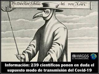 Información: 239 científicos ponen en duda el supuesto modo de transmisión del Covid-19
