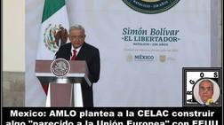 """México: AMLO plantea a la CELAC construir algo """"parecido a la Unión Europea"""" con EEUU"""