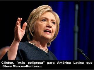 "EE.UU: Hillary Clinton, ""más peligrosa"" para América Latina que Donald Trump"