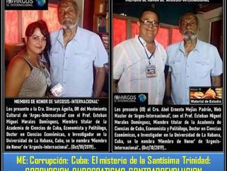 ME: Corrupción: Cuba: El misterio de la Santísima Trinidad: CORRUPCION, BUROCRATISMO, CONTRARREVOLUC