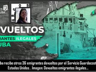 Cuba: Cuba recibe otros 36 emigrantes devueltos por el Servicio Guardacostas de los Estados Unidos