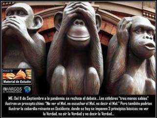 ME: Del 11 de Septiembre a la pandemia: se rechaza el debate