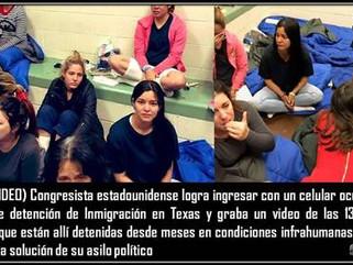 EE.UU: (VIDEO) Congresista estadounidense logra ingresar con un celular oculto en un centro de deten
