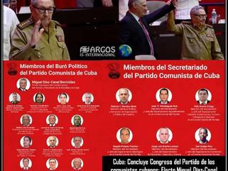 Cuba: Concluye Congreso del Partido de los comunistas cubanos: Electo Miguel Díaz-Canel