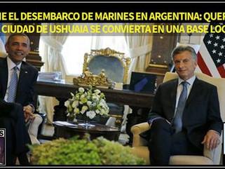 Argentina: Desembarco de Marines en Argentina: Queremos que la ciudad de Ushuaia se convierta en una