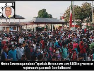 México: Caravana que salió de Tapachula, México, suma unos 6,000 migrantes