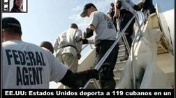 EE.UU: Estados Unidos deporta a 119 cubanos en un solo vuelo
