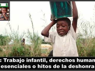 MI: Trabajo infantil, derechos humanos esenciales o hitos de la deshonra