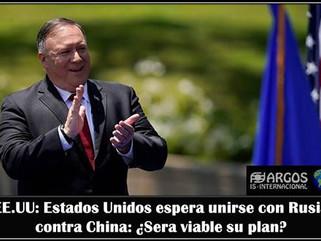 EE.UU: Estados Unidos espera unirse con Rusia contra China: ¿Sera viable su plan?