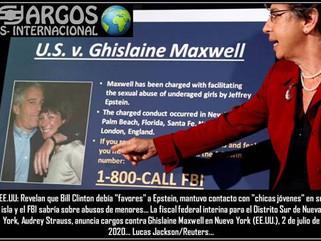 "EE.UU: Revelan que Bill Clinton debía ""favores"" a Epstein, mantuvo contacto con ""chic"