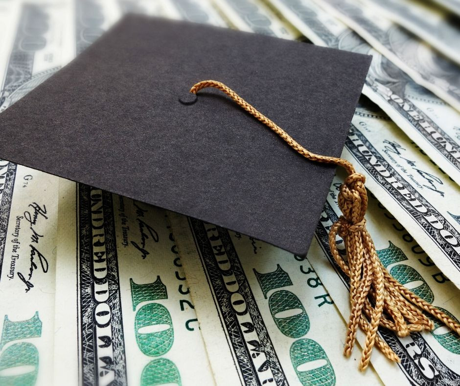 money and graduation hat
